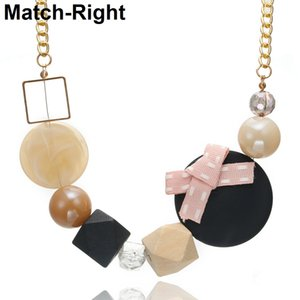 Wholesale Minimalist Wood Beads Necklace for Women Candy Color Charm Necklaces Pendants Women s Jewelry for Gifts Collares Mujer NR115