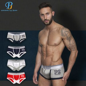 Wholesale Pink Heroes Hot Boxers Cotton Print Sexy Men Underwear Panties Cheap Brand Shorts Homme Boxer Cuecas Gay C19040401