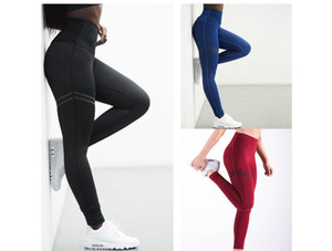 WomenYoga Sport High Swaist Long Pencil Pants Slim Leggings Red Blue Black Green Solid Color Pants