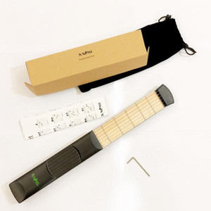 NAOMI Pocket Guitar Practice Tool Acoustic Guitar Trainer 6 Frets W Chord Chart BOX