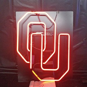 Wholesale Factory Custom OU Beer Led Glass Tube Neon Signs Lamp Lights Advertising Display Bar Home Decoration Sign Metal Frame