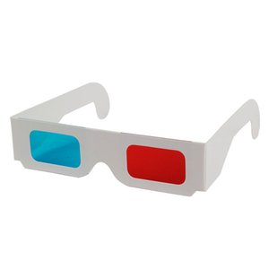 Wholesale Universal Paper Anaglyph D Glasses Paper D Glasses View Anaglyph Red Cyan Red Blue D Glass For Movie EF