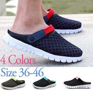 Wholesale Charming2019 At Massage End Of The Cold Men Baotou Half Slipper Male Slippers Garden Shoe