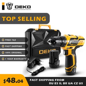 Wholesale DEKO GCD10 DU3 V Cordless Drill Electric Screwdriver Engraver Mini Power with Lithium Ion LED Light Free Tax Variable Speed