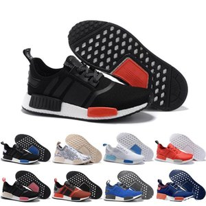 Wholesale best leather football boots resale online - 2019 Running Shoes Classic Triple Red Black NMD R1 Primeknit Japan Best Men Women Sport Shoes Sneakers Trainers