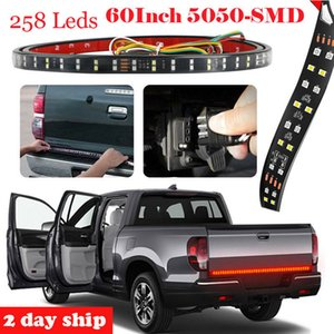 RGB DOUBLE LED Truck Tailgate Light Bar Brake Reverse Turn Signal Stop Tail Strip Waterproof Flexible LED Tape Light
