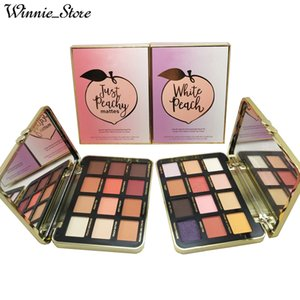 Wholesale by ePacket Newest Makeup Eyes Just Peachy Mattes White Peach Eye Shadow Palette Colors Velvet Matte Palette with Gifts