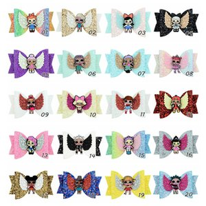 20 Colors Surprise Girls Hairpin Baby Sequin Glitter Bow Clips Girls Bowknot Barette Kids Hair Boutique Bows Children Hair Accessories A4406