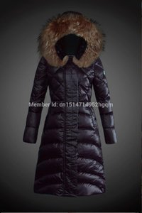Wholesale Luxury Big Fur Collar New Winter Jacket Women Slim Down Jacket Ladies Zippers Plus Size Down Coats top quality Lady Down Parka