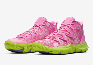 Wholesale Women Kyrie V Patricks Star Pink kids shoes sales With Box Irving GS boys basketball shoes store SIZE36