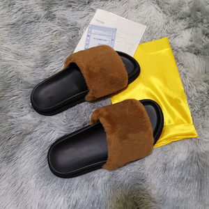 Wholesale shower s resale online - Hot Sale s Fluff letter luxury casual Shoes Boots Fashion Luxury fashion men Sandals Fur Slides Slippers