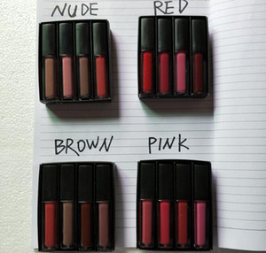 Liquid Lipstick Kit The Red Nude Brown Pink Edition Mini Liquid Matte Lipstick 4pcs set ( 4 x 1.9ml )