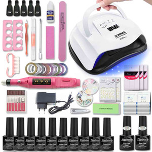 Wholesale Manicure Set For Nail Kit W UV Lamp Dryer Nail Set with Drill Machine Gel Polish Soak Off Manicure Tool Kit