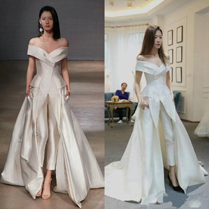 2019 New Women Jumpsuit Prom Dresses White Evening Dress Formal Dresses Party Wear Club Gowns Special Occasion Dress Zuhair Murad on Sale