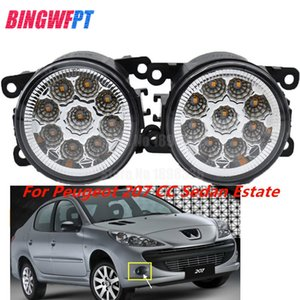 2PCS LED white yellow Front Fog Lights For Peugeot 207 CC Sedan Estate 2 Car Styling Round Bumper on Sale