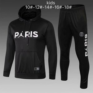 Wholesale PSG tracksuit new KIDS soccer Training suit MBAPPE CAVANI maillot de foot Paris hoodie child Sportswear jacket kit