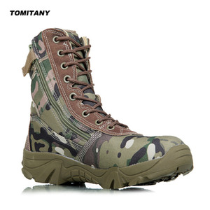 Wholesale trekking camping for sale - Group buy Outdoor Hiking Sneakers For Men Military Tactical Waterproof Camping Trekking Boots Mens Climbing Camo Sports Shoes