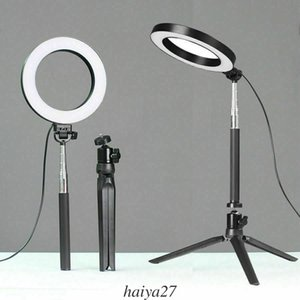 Wholesale LED Ring Light Dimmable K Lamp Photography Camera Photo Studio Phone Video W Poertable USB Light