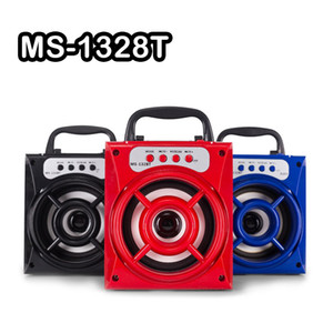 Wholesale High Quality MS BT Portable Mini Wireless Bluetooth Square Speaker Support FM LED Shinning TF Card Music Playing Volume Control