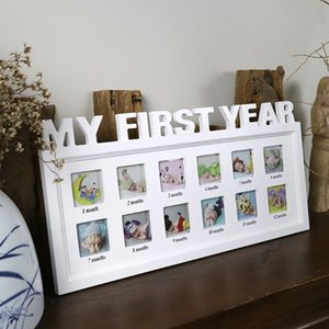 "Wholesale Creative DIY 0-12 Month Baby ""MY FIRST YEAR"" Pictures Display Plastic Photo Frame Souvenirs Commemorate Kids Growing Memory Gift"