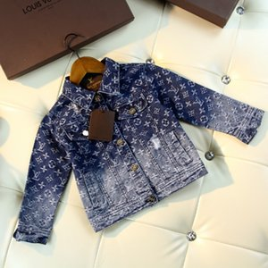 Children jacket kids designer clothing autumn boys and girls gradient wash denim jacket fashion denim coat on Sale