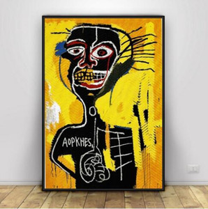 Jean Michel Basquiat Art Silk popp style ,Home Decoration Modern Art Painting on Canvas