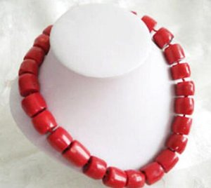 Wholesale necklace Hot sale Tibet Red Coral Large Cylinder Beads Necklace
