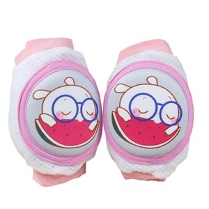 Baby Crawling knee pads Kids Kneecaps Cartoon Safety Cotton Baby Knee Pads Protector Children Short Kneepad Baby Leg Warmers protective gear on Sale