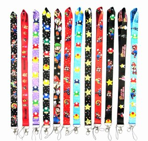 Super Mario Lanyard Phone Lanyards for Men Women Holders Chain Badge Keychain ID Cards Chain