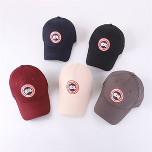 Wholesale Round Embroidery Baseball Cap Outdoor Motion Travel Couple Duck Tongue Hat Spring And Summer Snapback Cotton Black pf C1