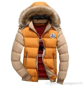Wholesale- Men Winter Coat Fur Collar Duck Down Parka Jackets Mens Puffer jacket With Fur Hood Rabbit Deisgner Warm Coats Brand Women