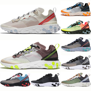 Wholesale Top desert sand sail React Element Men Running Shoes Women Breathable royal tint black red anthracite dark grey Sport Sneakers Shoes