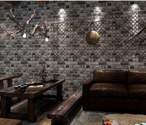 Wholesale faux brick walls for sale - Group buy Vintage D Faux Bricks Wallpaper Roll Vinyl PVC Retro Industrial Loft Wall Paper Red Gray Waterproof Washable