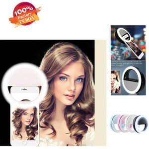 Selfie Ring Light RK-12 LED Selfie Lights Cell Phone Photograph Accessories Beauty Light For Girls Night Out Mobile Phone Lamp Lens Charger