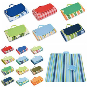 Wholesale outdoor carpeting resale online - 21 Colors cm Outdoor Sport Picnic Camping Pads Portable Folding Mat Beach Mat Oxford Cloth Sleeping Carpets CCA11706