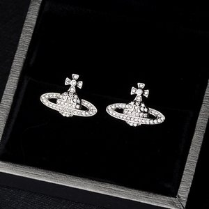 Wholesale Bling Bling Rhinestone Satellite Shape Stud Earring Women Silver Earring Gift for Love Fashion Jewelry Accessories