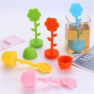 Wholesale New Product Sunflower Tea Maker Filter Tea Infuser Strainer Filter ECO Friendly Silicone Tea Ball Bag Filtration Hot Sale xcH1