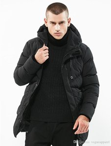 Wholesale Mens Coat Winter Cotton Thick Warm Outer Black Army Green Long Length Jacket Big Pocket Parkas