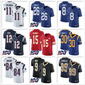 Mens Jared Goff Jersey Aaron Donald Todd Gurley Clay Matthews Patrick Mahomes Tom Brady Drew Brees Saquon Barkley Football jerseys elite 4xl on Sale