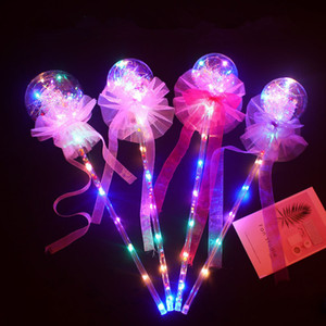 Valentine's LED Balloon Flashing Lights Magic Sticks Bowknot Luminous Kids Toys Handheld Balloon For Birthday Wedding Party Decors B81402 on Sale