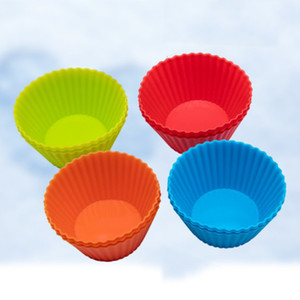 Wholesale cupcake pans for sale - Group buy 3inch Silicone Cupcake Liners Mold Muffin Cases Round Shape Cup Cake Mould SGS Cake Baking Pans Bakeware Pastry Tools Colors DBC DH1353