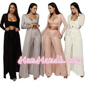 Wholesale 2019 autumn and winter new European and American fashion casual suit women's stretch knit three-piece fashion high-end 810941