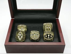 Wholesale Super Bowl Golden 49 Super Bowl 1981 1984 1988 1989 1994 Five-piece championship ring