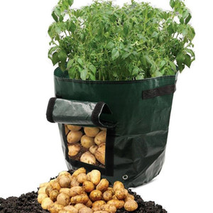 Wholesale planting tomato plants pots for sale - Group buy Vegetable Plant Grow Bag Potato Grow Planter PE Cloth Tomato Planting Container Bag Thicken Garden Pot Garden Supplies