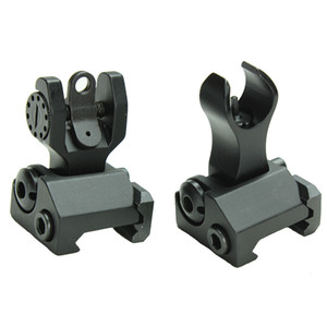 AR15 Front and Rear Flip up Iron Sights Back-up Iron Sights