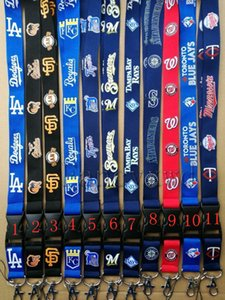 Wholesale - 10ocs baseball Neck Lanyard Keys key chain Badge Holders Dodgers Diamondbacks Mobile Phone Neck Straps