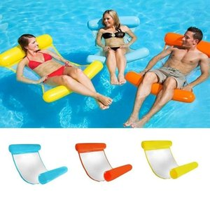 Wholesale Inflatable Pool Floating Water Hammock Float Lounger Floating Bed Chair Swimming Pool Inflatable Hammock Bed Pool Outdoor Foldable Party Toy