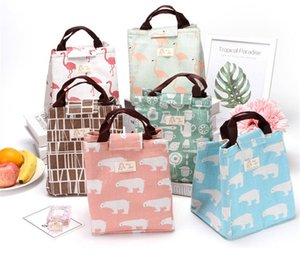 Wholesale Animal Print Portable Lunch Bag Waterproof Thermal Insulation Bags Large Size Outdoor Picnic Cooler Handbags Food Tote Storage Bag B71801