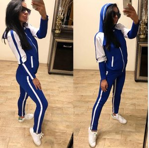 New Long sleeve Tracksuit Men Women Vintage Sports Sweatsuit Fashion Striped Jacket Pants Sportswear Jogging Gym Sweat Suits