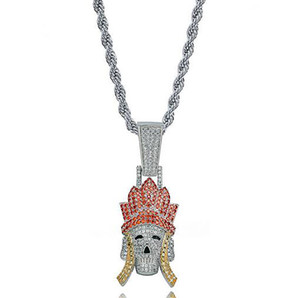 Wholesale journey west for sale - Group buy Iced Out Tripitaka Monkey King Pigsy Sandy Pendant Necklace Bling Character of Journey to The West Jewelry Micro Pave Cubic Zirconia